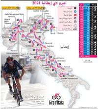 سباق دراجات: جيرو دي إيطاليا 2021 infographic