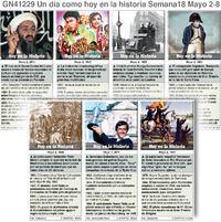 HISTORIA: Un día como hoy Mayo 02-08, 2021 (semana 18) infographic