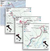 CICLISMO: Mapas das etapas da Volta a Itália 2021 infographic