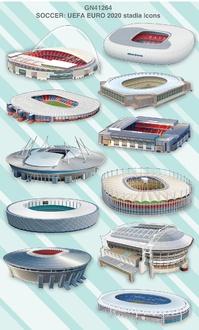 UEFA Euro 2020 stadia icons infographic