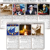تاريخ: حدث في مثل هذا اليوم - 23 - 29 أيار - الأسبوع 21 infographic