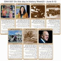تاريخ: حدث في مثل هذا اليوم - 6 - 12 حزيران - الأسبوع الـ 23 infographic