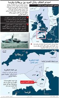 أعمال: الخلاف بشأن الصيد بين بريطانيا وفرنسا infographic