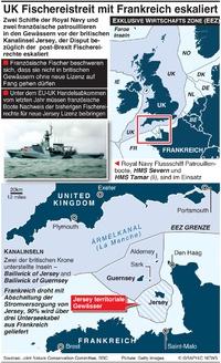 WIRTSCHAFT: UK-Frankreich Fischerei Disput infographic