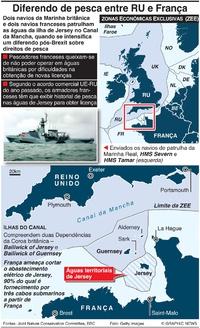 NEGÓCIOS: Disputa de pesca entre Reino Unido e França infographic