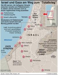 """KONFLIKT: Israel und Gaza am Weg zum """"Totalkrieg"""" infographic"""