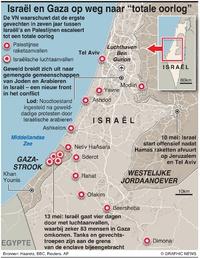 "CONFLICT: Israël en Gaza stevenen af op ""totale oorlog"" (1) infographic"