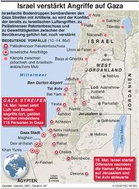 KONFLIKT: Israel verstärkt Angriffe auf Gaza infographic
