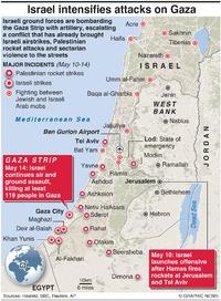 CONFLICT: Israel steps up assault on Gaza infographic