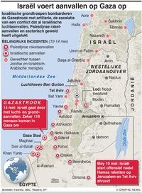 CONFLICT: Israël voert aanvallen op Gaza op infographic