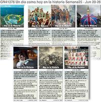 HISTORIA: Un día como hoy Junio 20-26, 2021 (semana 25) infographic