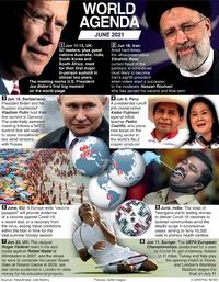 WORLD AGENDA: June 2021 (1) infographic