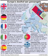 GEZONDHEID: Europa's doolhof aan grensregels infographic