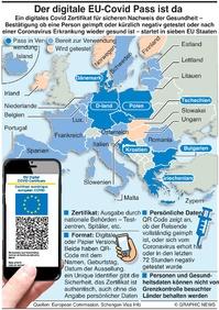 GESUNDHEIT: EU digitaler Covid Pass infographic