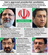 POLITICS: Iran presidential contenders infographic
