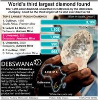 BUSINESS: Largest diamonds infographic