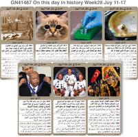 تاريخ: حدث في مثل هذا اليوم 11 -17 تموز - الأسبوع 28 infographic