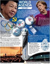 WORLD AGENDA: July 2021 infographic