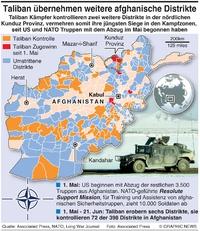 KONFLIKT: Taliban Zugewinne in Afghanistan infographic