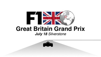 F1: Great Britain GP video infographic infographic