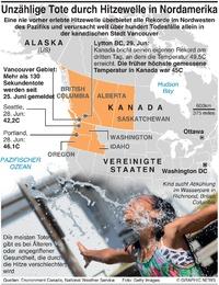 WETTER: Hitzewelle in Nordamerika infographic