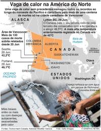 CLIMA: Vaga de calor na América do Norte infographic