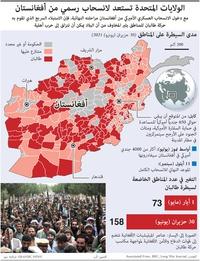 عسكري: الولايات المتحدة تستعد لانسحاب رسمي من أفغانستان infographic