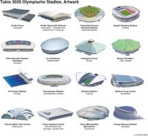 TOKYO 2020: Olympische Stadien infographic