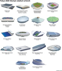 TOKYO 2020: Olympic stadia (1) infographic