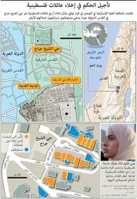 فلسطين/الدولة العبرية: تأجيل الحكم في إخلاء عائلات فلسطينية infographic
