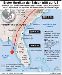 WETTER: Hurrikan Elsa infographic