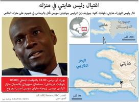 سياسة: اغتيال رئيس هايتي في منزله infographic