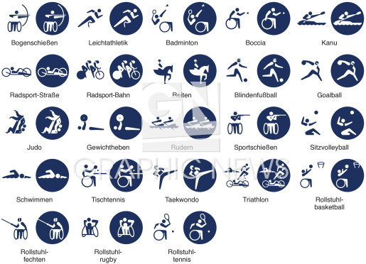 Paralympische Pictogramme infographic
