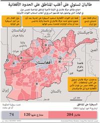 أفغامستان: طالبان تستولي على أغلب المناطق على الحدود الأفغانية infographic