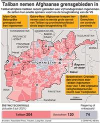 AFGHANISTAN: Taliban nemen grensgebieden in infographic