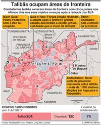 AFEGANISTÃO: Talibãs ocupam áreas de fronteira infographic