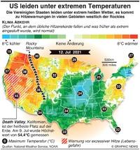 WETTER: US leiden unter sengender Hitze infographic