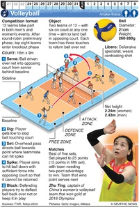 TOKYO 2020: Olympic Volleyball infographic