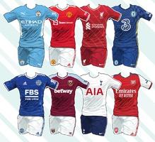 SOCCER: English Premier League kits 2021-22 (1) infographic