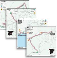 CICLISMO: Mapas de etapas de La Vuelta a España 2021 (1) infographic