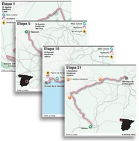 CICISMO: Volta a Espanha 2021, mapas das etapas (1) infographic