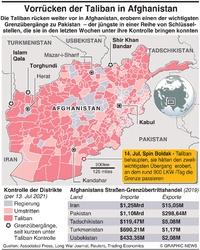 AFGHANISTAN: Taliban erobern wichtigen Grenzübertritt infographic