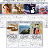 تاريخ: حدث في مثل هذا اليوم - 1 - 7 آب - الأسبوع 31 infographic