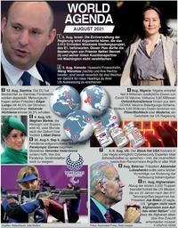 WORLD AGENDA: August 2021 infographic