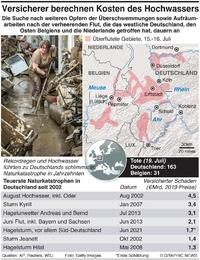 WETTER: Folgen der Überschwemmungen in Deutschland infographic