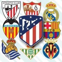 SOCCER: Spanish La Liga crests 2021-22 infographic