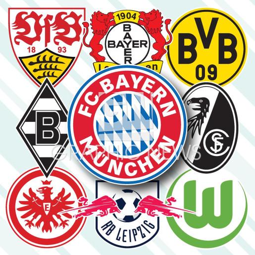 German Bundesliga crests 2021-22 infographic