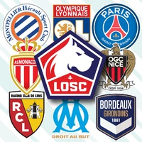SOCCER: French Ligue 1 crests 2021-22 infographic