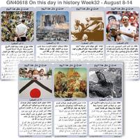 تاريخ: حدث في مثل هذا اليوم - 8 - 14 آب - الأسبوع 32 infographic