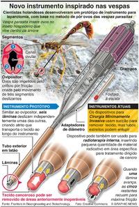 SAÚDE: Novo instrumento cirúrgico inspirado nas vespas infographic